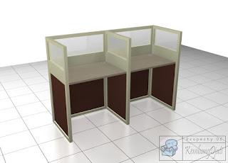 Cubicle Workstation 3 Staff - 2 Staff - Furniture Semarang