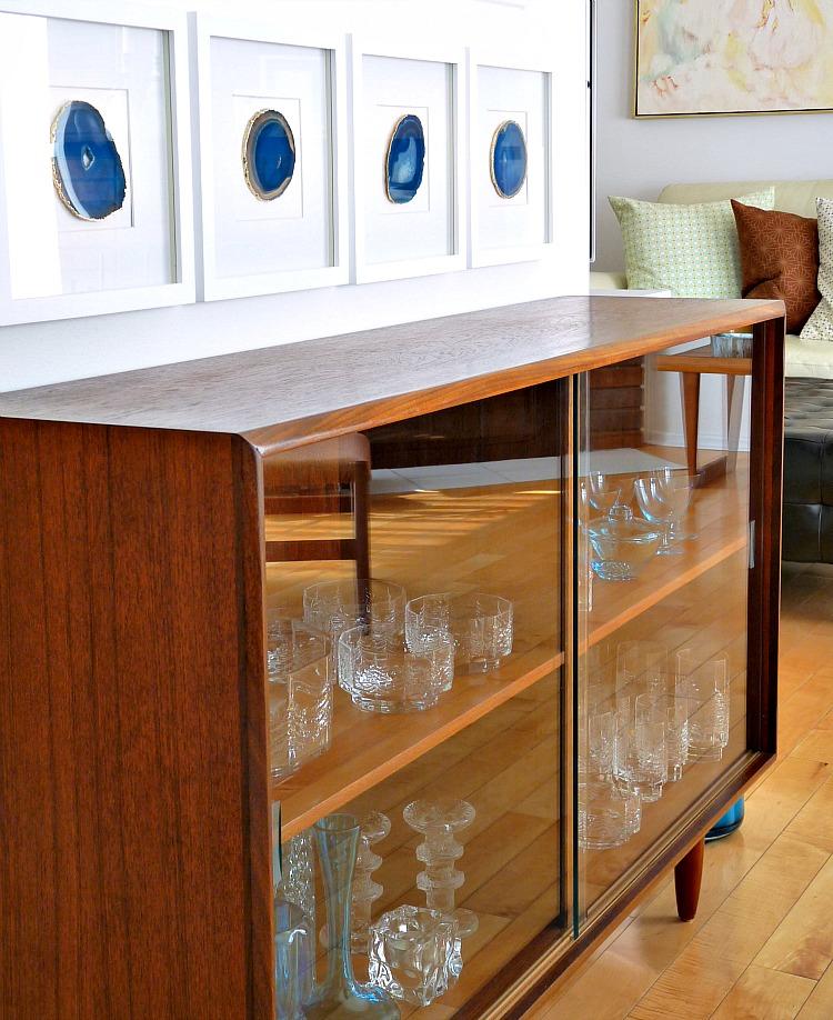 DIY framed agate slice art