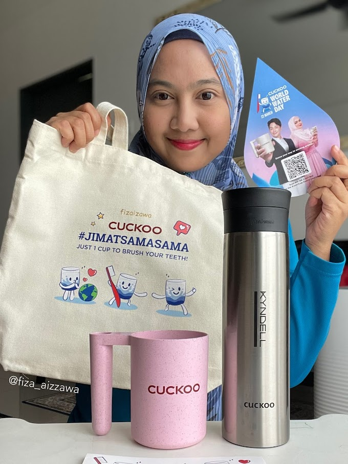 Terima Cuckoo Merchandise sempena kempen World Water Day #Jimatsamasama Cuckoo