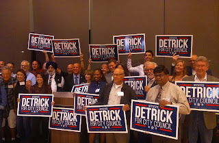 Detrick Kicks-off Campaign For Third Elk Grove City Council Term