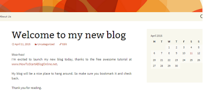 Woo-hoo! That's all there is to creating a blog. 20 minutes is all you need.