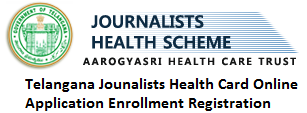 Telangana Journalists Health Card Online Enrollment