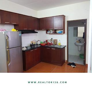 bếp chung cư tân mai 1 phòng ngủ full nội thất