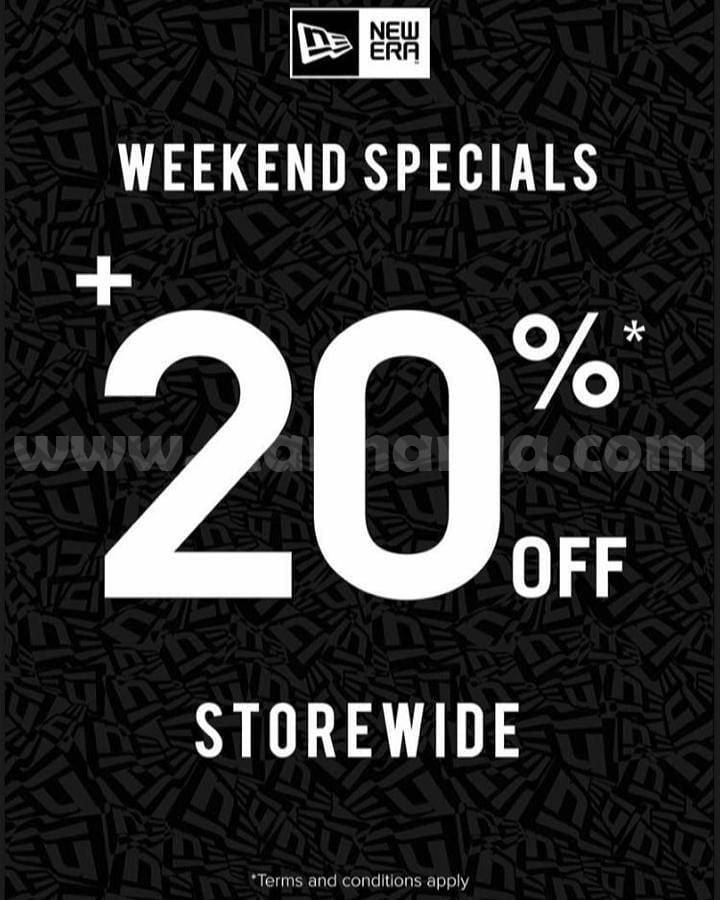 Promo NEW ERA CAP WEEKEND SPECIALS + 20% Off Storewide