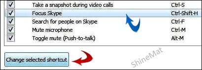 Handy skype shortcut