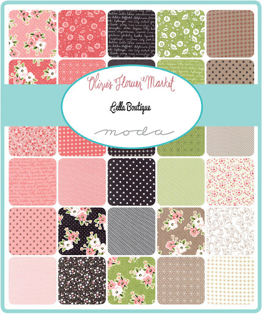 Olive's Flower Market fabric designed by Lella Boutique for Moda