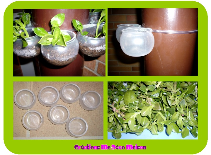 couronne de plantes avec pots de yaourt cr ations ma d co maison. Black Bedroom Furniture Sets. Home Design Ideas