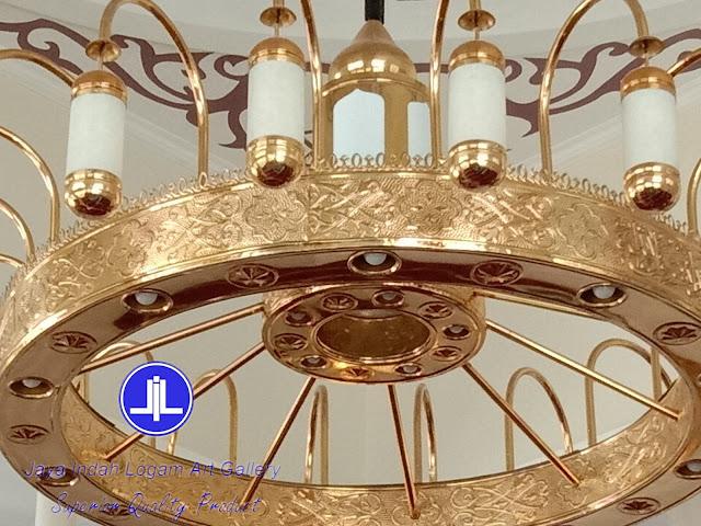 lampu nabawi / lampu al murabi / kerajinan tembaga dan kuningan