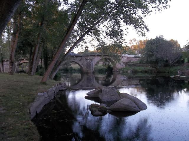 rio, puente, agua, artesania