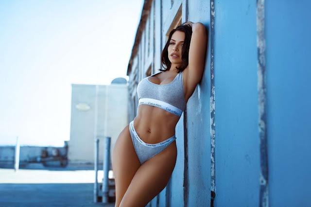 Vida Guerra in Calvin Klein Underwear