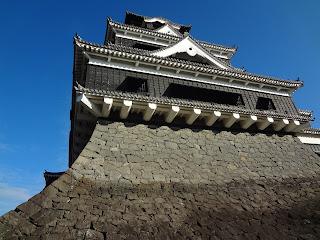 熊本地震前の熊本城(石垣)天守
