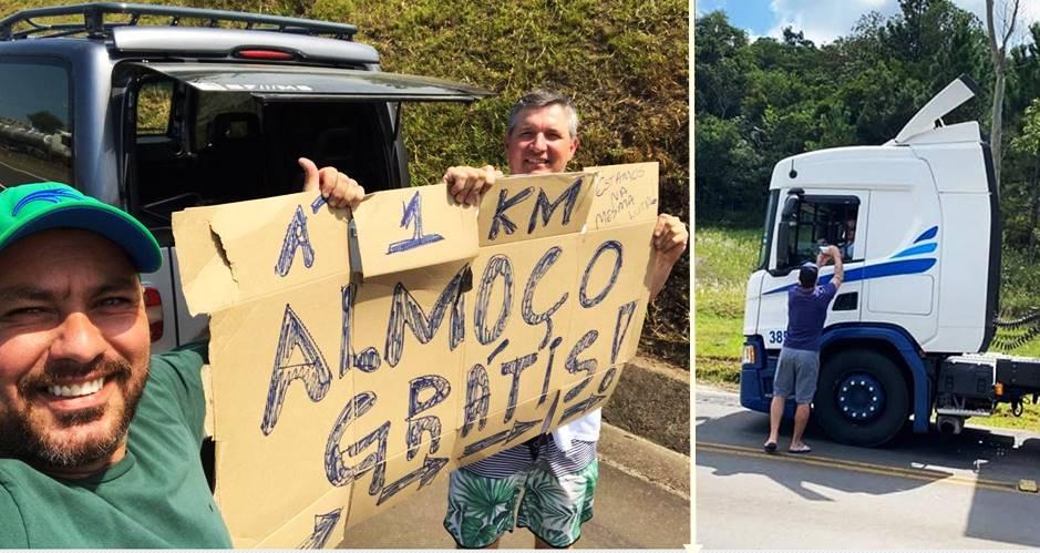 Voluntários fazem marmitas para caminhoneiros em Santa Catarina