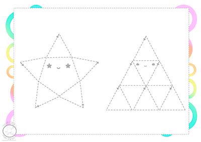 ejercicios de motricidad fina triángulos