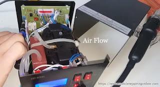 air flow machine under Hot Air rework Station