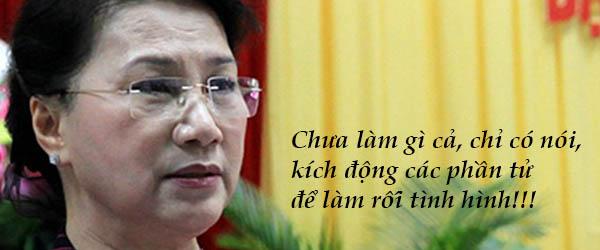 Để trả lời câu hỏi của bà chủ tịch quốc hội Nguyễn Thị Kim Ngân