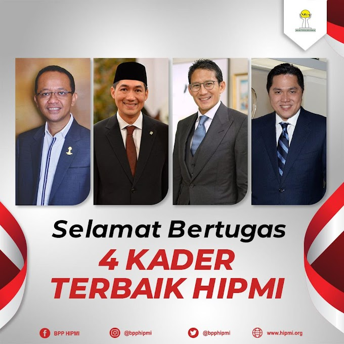 4 KADER HIPMI DI JAJARAN KABINET INDONESIA MAJU