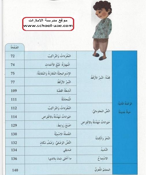 كتاب الطالب عربى الصف الرابع الفصل الال 2020 مناهج الامارات