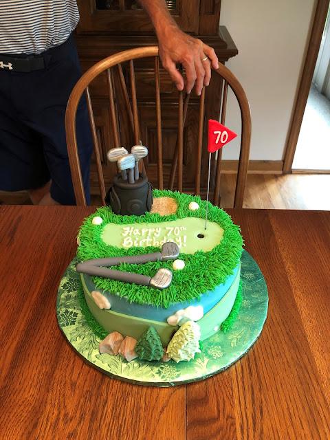 70th birthday golf-themed birthday cake!