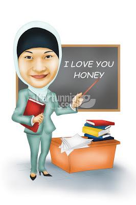 Karikatur Guru Mengajar