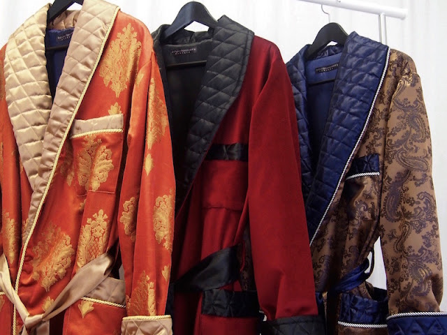 luxury paisley silk dressing gowns for men