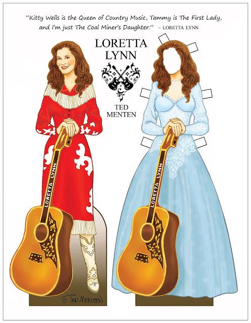 Loretta Lynn Paper Doll by Ted Menten
