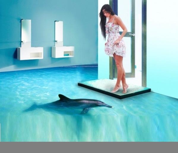 D Bathroom Floor Designs
