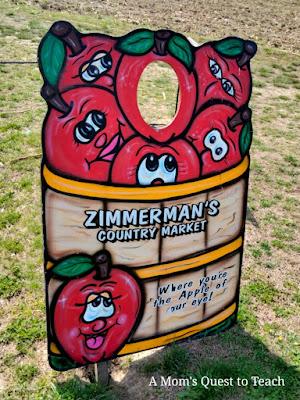 Zimmerman Family Farm Apple basket photo-op