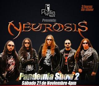 "Concierto ONLINE de NEUROSIS ""Pandemia Show 2"""