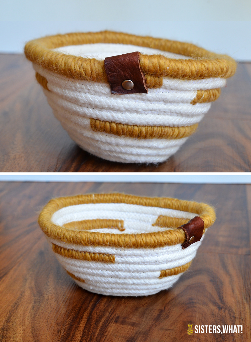 easy rope coil sewing basket
