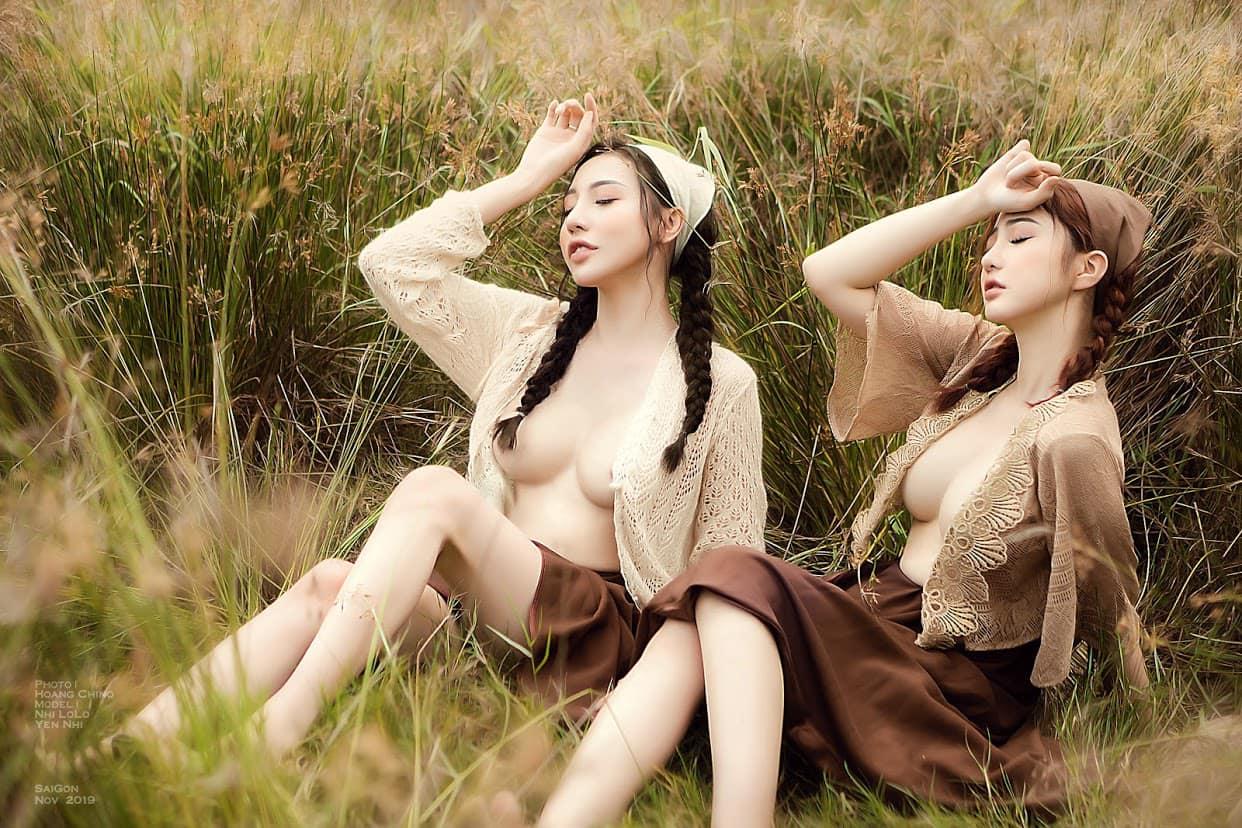 Phạm Hoàng Yến Nhi – Cô thôn nữ mơn mởn bên đám cỏ lau