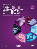 Journal of Medical Ethic cover