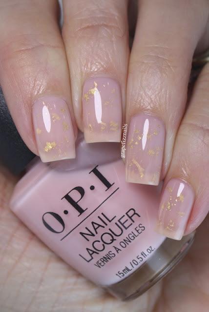 OPI Gold Foil Milk Bath Nails