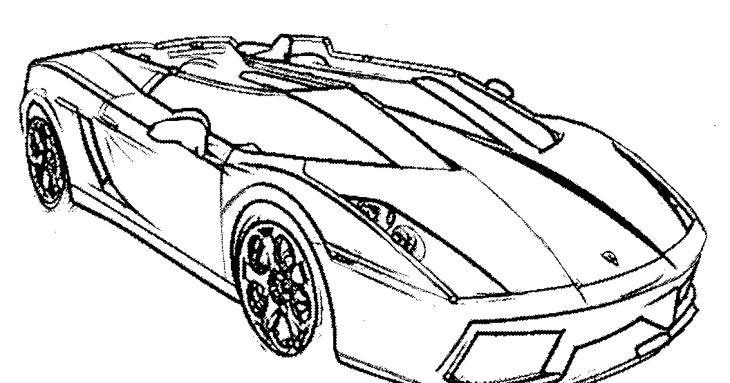 Sketsa Gambar Mewarnai Mobil Balap Hitam Putih Paud Tk Sd Terbaru