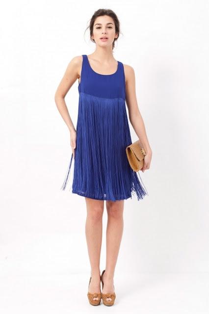 Vestido de noche azul