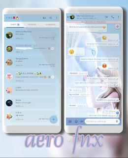 Elza White Theme For YOWhatsApp & Aero WhatsApp By Ave fénix
