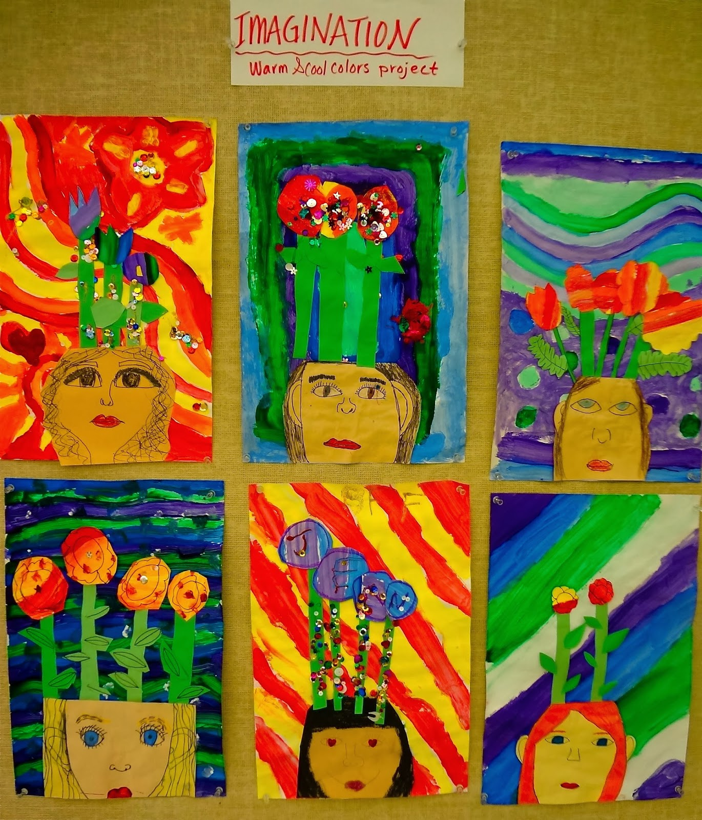 The Talking Walls Warm And Cool Colors Imagination Lesson