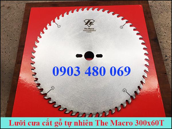 Lưỡi cưa cắt gỗ tự nhiên The macro 300x60T