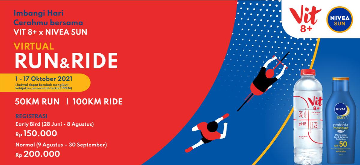 Imbangi Hari Cerahmu Bersama NIVEA SUN dan VIT 8+ Virtual Run & Ride