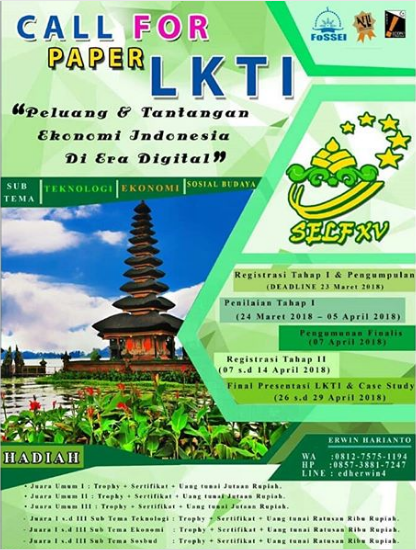 Call For Paper Lomba LKTI 2018 Udayana