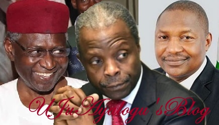 TOP SECRET: Cabal Asks Osinbajo To Accept Malami As VP Among Other Conditions To Prevail On Buhari To RESIGN