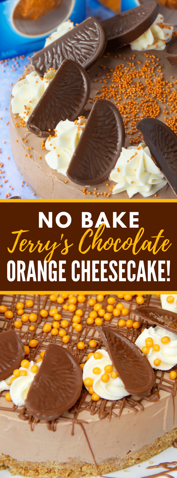 NO-BAKE TERRY'S CHOCOLATE ORANGE CHEESECAKE! #desserts #cake