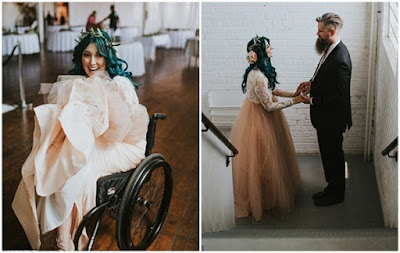 Jaquie Goncher, Wanita Lumpuh Yang Kini Bisa Berjalan Waktu Menikah
