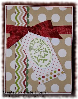 Stamp with Trude, Mojo Monday, Stampin' Up!, Christmas card