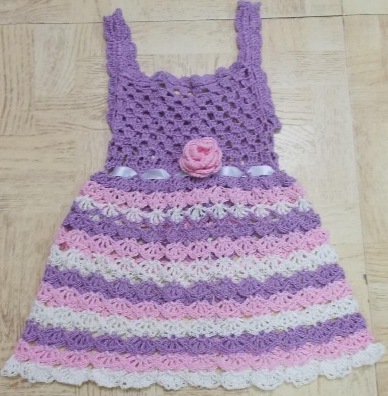 Sweet Nothings Crochet Frilly N Cute Lil Girls Dress
