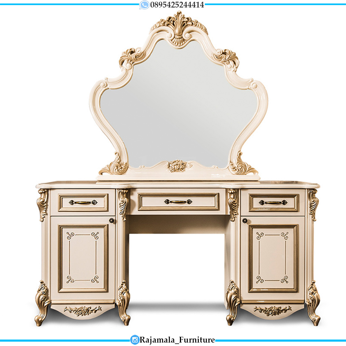 Meja Rias Mewah Luxury Carving Furniture Jepara Classic RM-0546