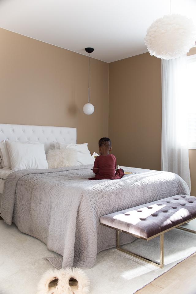 Villa H, makuuhuone, skandinaavinen sisustus