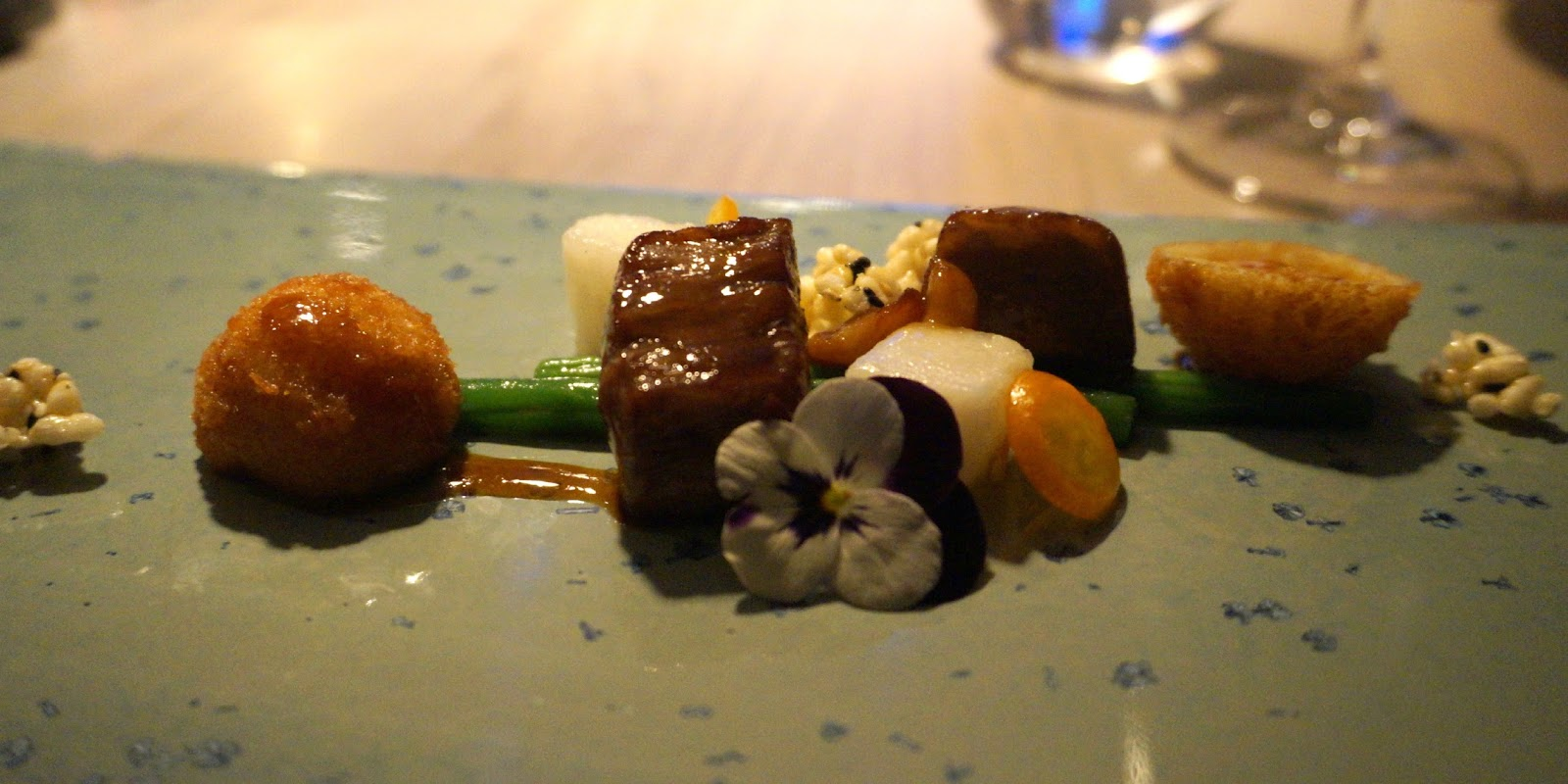 Japanese wagyu beef with potato croquettes
