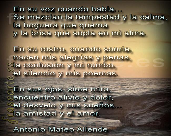 Poemas de amor, Antonio Mateo Allende