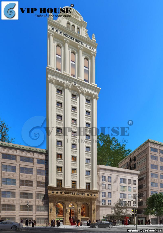 Hình ảnh: Thiết kế khách sạn 3 sao 13 tầng cổ điển có hơn 50 buồng ngủ sàn 280m2