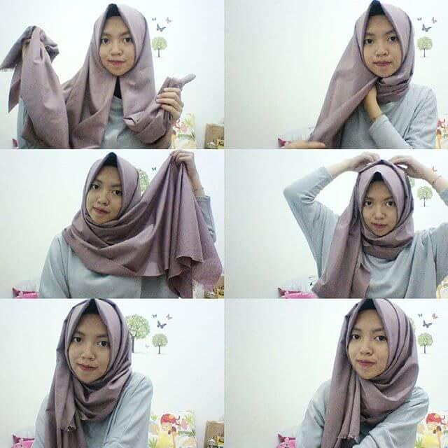 Tutorial Hijab Simple Polos Tutorial Hijab Rawis Simple Untuk Lebaran
